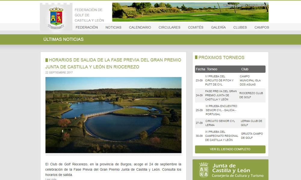 CMS de la Federación de Golf de Castilla y León