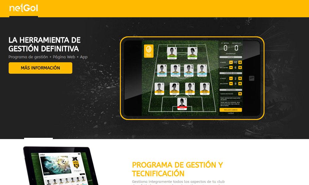 NetGol. App de Tecnificación para los Clubes de Fútbol