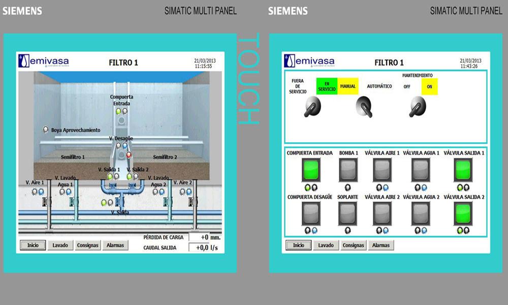 Sistema de control de filtros, Automatización Industrial