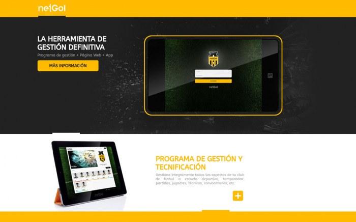 NetGol, diseño web