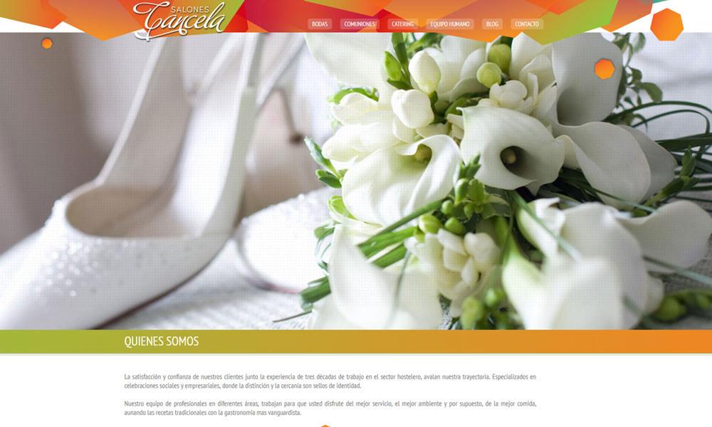 Salones Cancela, diseño web