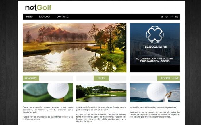 NetGolf, diseño web