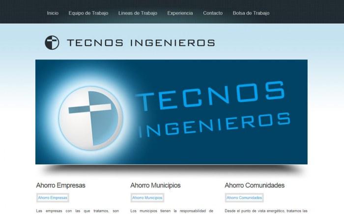 Tecnos Ingenieros, diseño web
