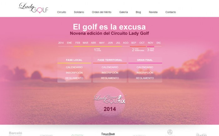 Lady Golf, diseño web