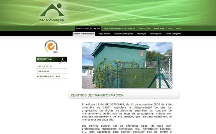 Nava Gestión, diseño web