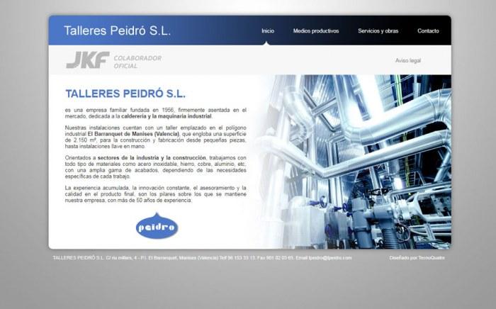 Talleres Peidró, diseño web