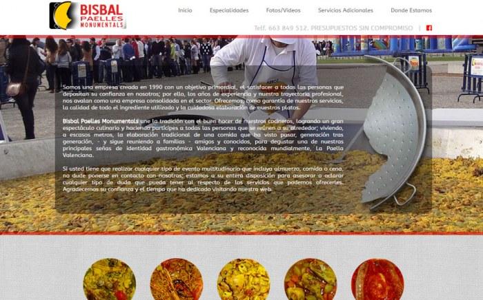 Bisbal Paelles Monumentals, diseño web