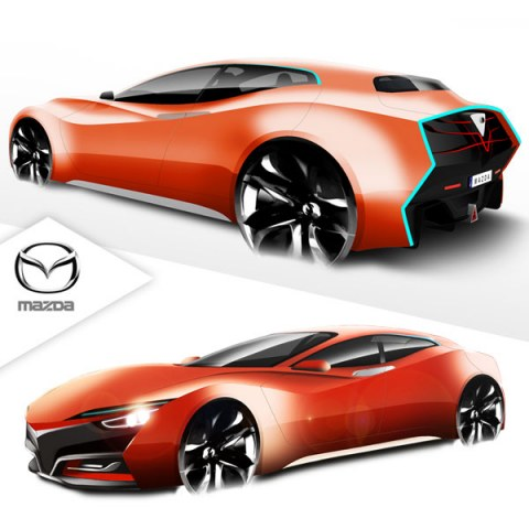Mazda Herumetto, sketches cars, diseño industrial