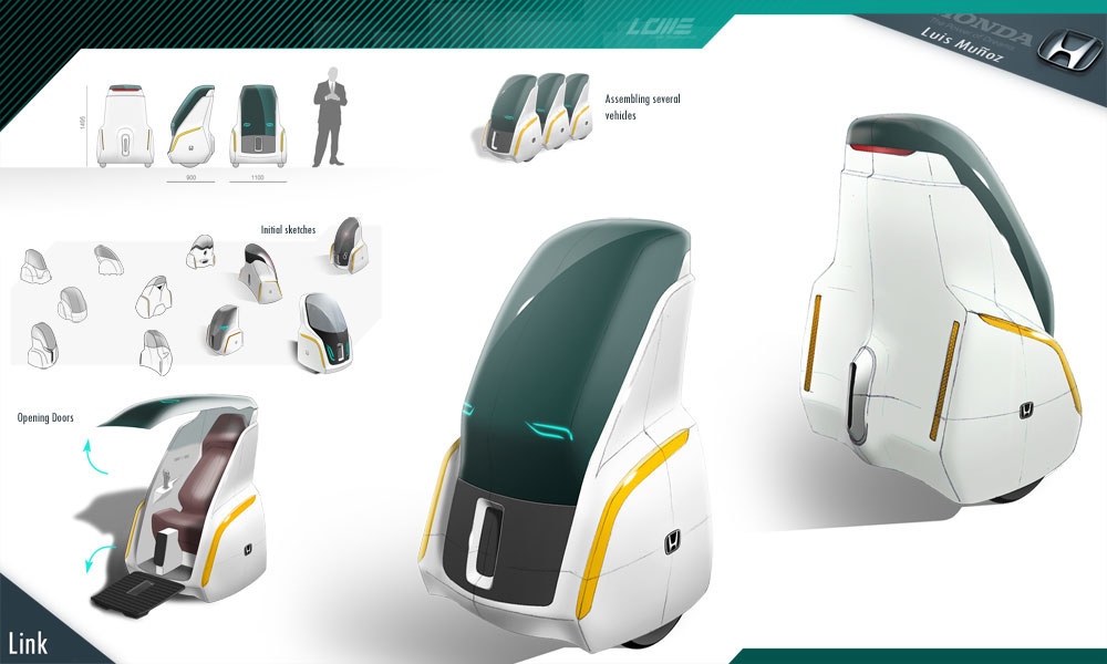 Honda Link, sketches cars, diseño industrial
