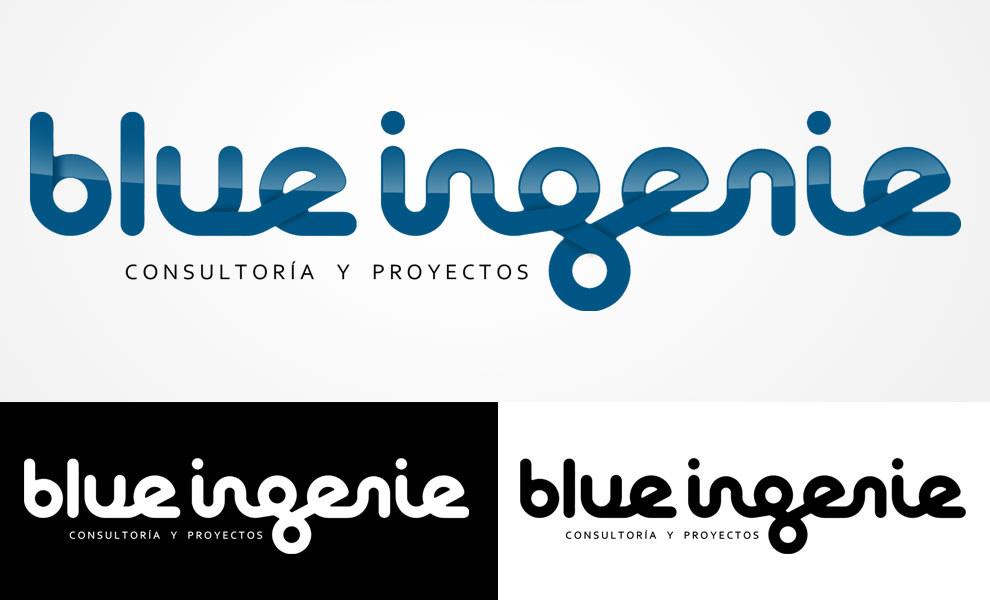 Blue Ingenie, diseño gráfico, logotipo, imagen corporativa