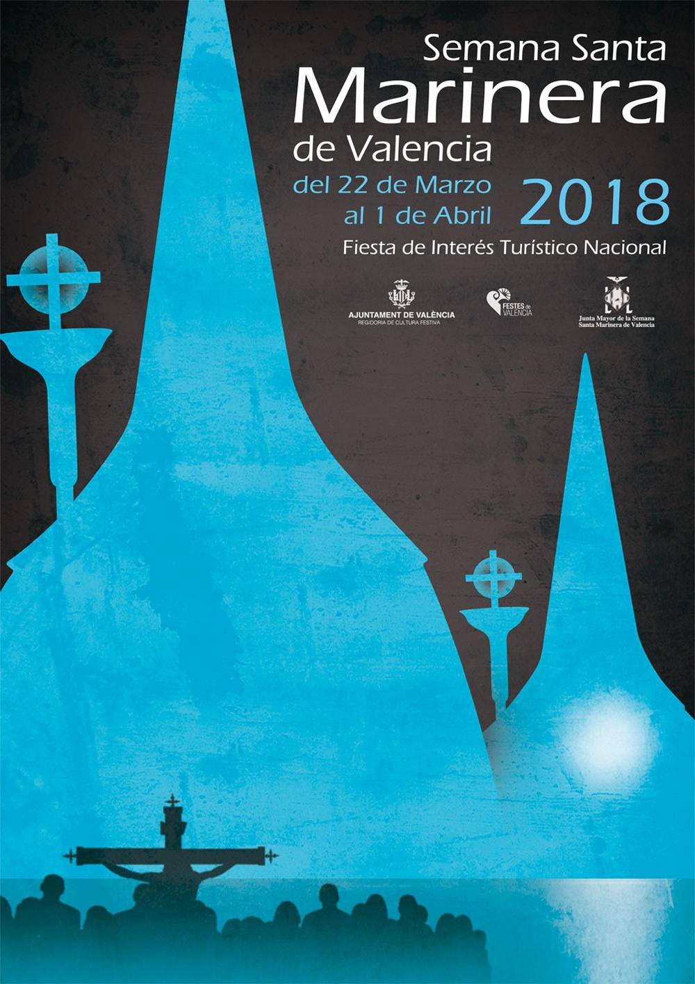 Cartel Semana Santa Marinera, diseño gráfico
