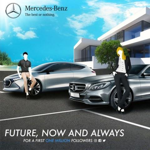Mercedez Benz, Diseño Gráfico